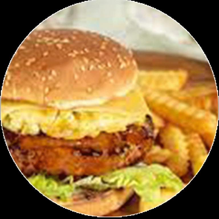 Sapige Kipburger met saus naar keuze